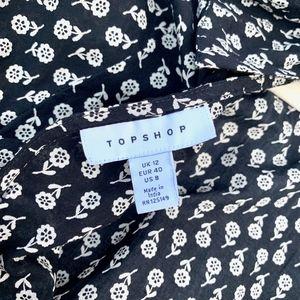 Topshop Tops - Topshop Open Back Cotton Ditsy Blouse